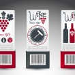 Royalty-Free Stock Vector Image: Set of wine labels. Vector