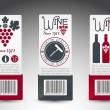 Set of wine labels. Vector — Stock Vector #13507034