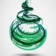 Abstract Green Spiral Background. Vector — Stock Vector #13507059