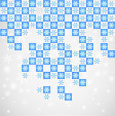Symmetry snow pattern.Vector — Stock Vector