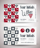 Vector retro vintage business card for wine business. — Stock Vector
