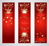 Vertical christmas web banners. — Stock Vector