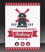 Blank for bakery. Vector — Stockvektor