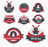Set of bakery labels. Vector — Stock Vector
