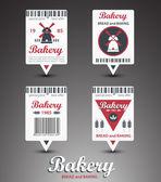 Set of bakery labels. Vector — Stock Vector