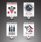 Set of wine labels. Vector — Stock Vector