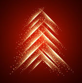 Abstract glow christmas tree — Stockvector