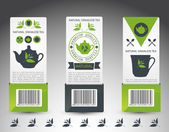 Set of tea labels. Vector — Stockvector