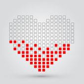 Pixel heart. Vector — Stock Vector