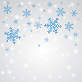 Snow fall. Winter background. — Vector de stock