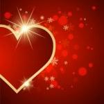 trevlig abstrakt bakgrund med hjärtan — Stockvektor