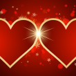 Nice abstract background with hearts — 图库矢量图片