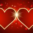 com corações fundo abstrato — Vetorial Stock