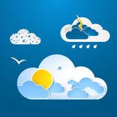 Weather in cloud. Vector. — Stock Vector