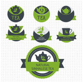 Set of tea lable. Vector — Stock Vector