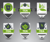 Set of tea labels. Vector — Stock Vector