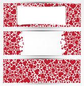 Valentine's day vector banner. — Stock Vector