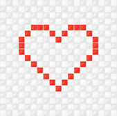 Pixel Heart. Vector — Stock Vector