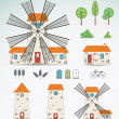 Set of farm icons. Vector — Stock Vector