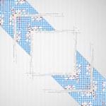 Abstract background with arrow. Pixel art. Vector — Stock Vector