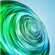 Abstract Green Wave background. Vector — Stock Vector