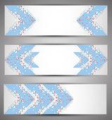 Horizontal web banners. Pixel art. Vector — Stock Vector