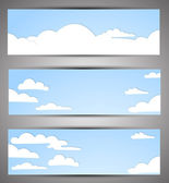 Set of banners for a site. good weather — Stock Vector