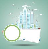 Modern city background. Vector — Stock Vector