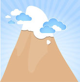 Clouds and mountain. Vector — Stock Vector