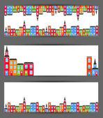 Şehir Banner renk. vektör — Stok Vektör