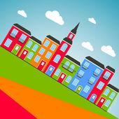 Renkli şehir arka plan. vektör — Stok Vektör
