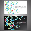 Vector abstract business cards — Stock Vector