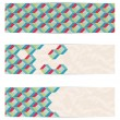 Royalty-Free Stock Vector Image: Retor mosaic web banners. Vector