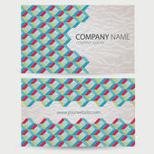Abstract retro-style set of cards. Vector — Stock Vector