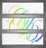Set of bright banners. Vector — Stock Vector