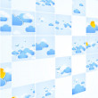 Mosaic theme. Good weather background. Blue sky with clouds. Vec — Stock Vector #24394043