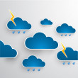 Cloud theme vector background. Bad weather.Eps 10 — Stock Vector