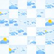 Mosaic theme. Good weather background. Blue sky with clouds. Vec — Stock Vector #24394063