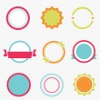 Set of color empty labels. Vector — Stock Vector