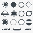 Set of gray empty labels. Vector — Stock Vector