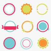 Conjunto de etiquetas de cores vazia. vector — Vetor de Stock