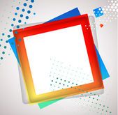 Colorful Square blank background — Stock Vector