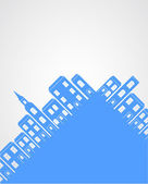 City silhouette background. — Stock Vector