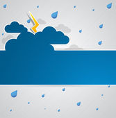 Bad weather. — Stock Vector