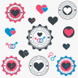 Set of heart icons. Vector — Stock Vector #36715027