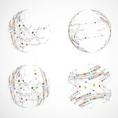 Set of abstract sphere — Stock Vector