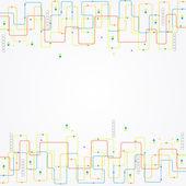 Abstraktní barvy technologické zázemí — Stock vektor