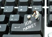 On line job market — Stock Photo