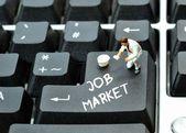 Op lijn arbeidsmarkt — Stockfoto
