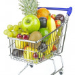 Stock Photo: Shopping Cart and Fruit